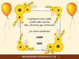 Invitaciones Para Fiestas De Primavera Tarjetas Infantiles