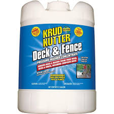 Krud Kutter 5 Gal Deck And Fence Pressure Washer Concentrate Df05 The Home Depot Pressure Washer Mildew Remover Krud Kutter