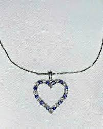 diamonds heart necklace pendant