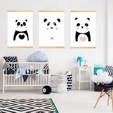 Nursery Canvas Wall Painting Print Poster Picture Wall Hanging Kids Room Decoration With Wood Frame Painting Calligraphy Aliexpress