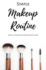 my simple makeup routine chaos just
