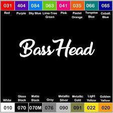 Basshead Vinyl Decal Sticker Window Car Truck Drift Jdm Bass Speakers Ebay