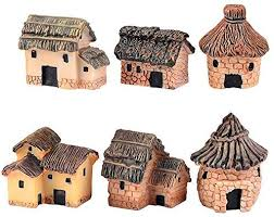 miniature fairy garden stone houses
