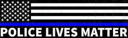 Police Lives Matter Bumper Sticker Thin Blue Line Flag Design