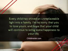 best quotes about loss of a child to show sympathy child insider