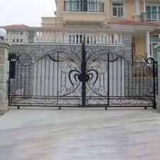 european ilityue style wrought iron gate