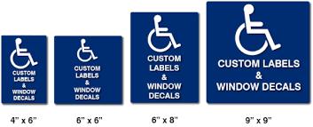 Ada Custom Self Adhesive Labels Or Window Decals Ada Sign Depot