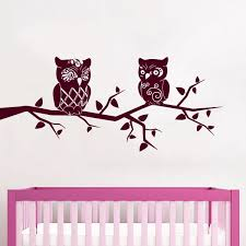 Shop Burgundy Owls Nursery Vinyl Sticker Wall Art Free Shipping On Orders Over 45 Overstock 10201773