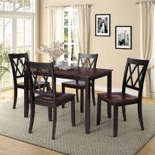 Dining Room Table Sets Of 4 People Urhomepro 5 Piece Wood Dining Set With 4 Chairs