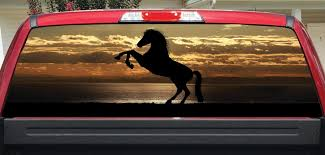 Rear Window Pickup Truck Graphics Tagged Horse Let S Print Big