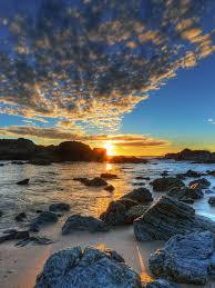 nature ocean breeze at sunset hdr