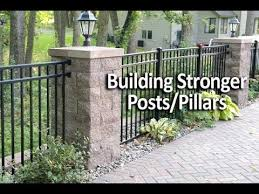 How To Add Strength And Stability To Posts Or Pillars Youtube