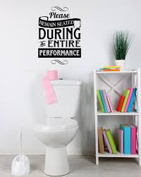Toilet Performance Vinyl Wall Decal For The Bathroom