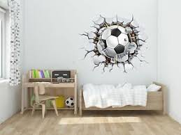 Wall Decal 3d Soccer Hole Decal Decor Stickers Vinyl Sport Dg003 Ebay