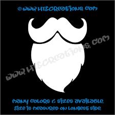 Mustache Curly Beard Hippie Boho Car Truck Boat Laptop Vinyl Decal