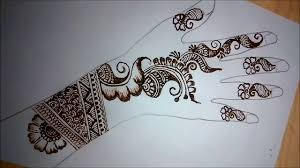 full hand mehndi designs easy back side
