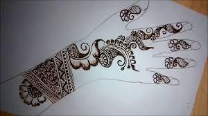 mehndi design back side easy