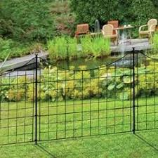 2 5 Ft H X 4 7 Ft W Madison No Dig Garden Fence Panel Garden Fence Panels Metal Garden Fencing Garden Fencing