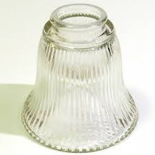 clear fluted glass light shade 2 2 1 8