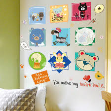 Bathroom Wall Stickers Self Adhesive Animal Letter Home Decor