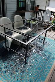 from a crashed glass table to a wood
