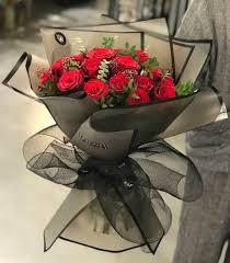 Bd0336 باقة ورد جميلة How To Wrap Flowers Flower Shop Design