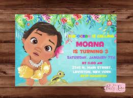 Moana Invitation Moana Birthday Party Moana Birthday Invite
