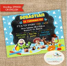 Toy Story Pool Party Printable Invitation By Mimorusa On Etsy