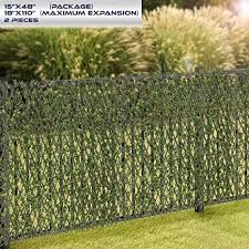 Windscreen4less Artificial Leaf Faux Ivy Expandable Stretchable Privacy Fence Screen Single Sided Leaves In 2020 Artificial Leaf Privacy Fence Screen Fence Screening