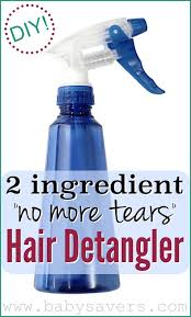 diy homemade hair detangler a tear