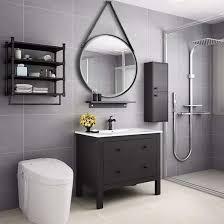 bathroom mirror black metal framed