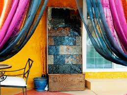 how to make a slate water wall feature