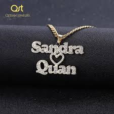 hearts necklace pendants couple