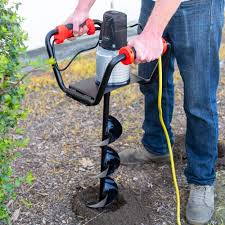 Xtremepowerus 1500w Premium Electric Post Hole Digger Soil Digging Fence Post Plant With 6 Digging Auger Bit Set Walmart Com Walmart Com