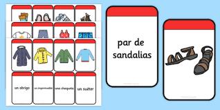 Spanish Clothing Matching Flashcards (teacher made)