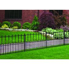 Shop No Dig Powder Coated Steel Fence Panel Common 29 In X 38 In Actual 29 02 In X 37 76 In At Lowes Com Fence Landscaping Backyard Fences Aluminum Fence