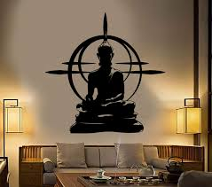 Buddha Wall Decal Chakra Mandala Mantra Chakra Meditation Vinyl Sticke Wallstickers4you