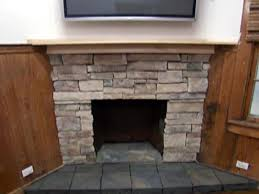 cultured stone fireplace surround