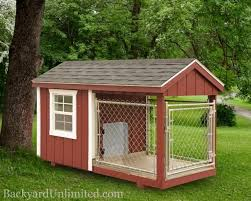 4 X8 Dog Kennel With 4 X4 Box And 4 X4 Run Http Www Backyardunlimited Com Dog Kennels Outdoor Dog House Insulated Dog Kennels Insulated Dog House