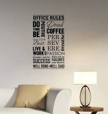 Amazon Com Office Rules Wall Decal Be Think Positive Success Work Inspirational Quotes Sticker Business Vinyl Lettering Motivational Saying Art Decorations Room Window Door Decor Hq33 Home Kitchen