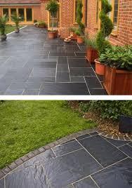 blue black slate paving slabs natural