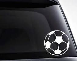 Soccer Car Decal Etsy