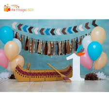 Life Magic Box Backgrounds For Photography Baby Boy 1st Birthday Party Boat Photo Backdrops For Studio Video Background Aliexpress