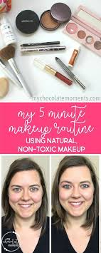 5 minute makeup routine using natural