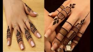 mehndi design finger back