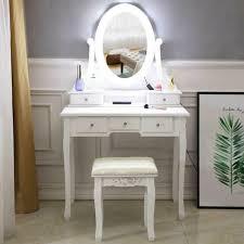 wood makeup dressing table vanity set