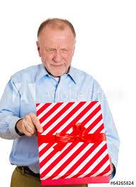 gift ideas senior elderly man unhappy