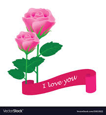 banner i love you royalty free vector image