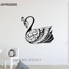 Joyreside Lake Swan Wall Decal Art Animals Birds Wall Sticker Swan Wings Vinyl Decor Home Kids Rooms Decor Interior Design A908 Wall Stickers Aliexpress