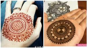 gol circle mehndi design